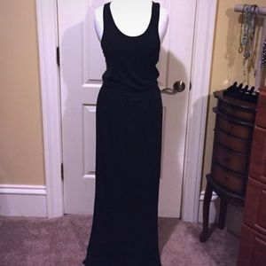 Black JCrew racer back maxi dress